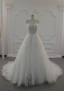 Ivory Lace Bridal Wedding Gown Wedding Dress 2017 Ball Gown Prom Dress pictures & photos
