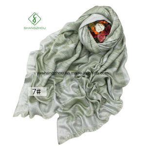 New Design Spun Gold Scarves Plaid Oblique Leisure Scarf Shawl pictures & photos