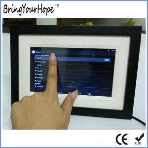 "7"" Wooden Touch Android Allwinner Wi-Fi Digital Photo Frame (XH-DPF-070W) pictures & photos"