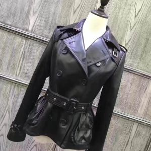 Ladies Leather Jacket with Belt, Women Clothing, Fashion pictures & photos