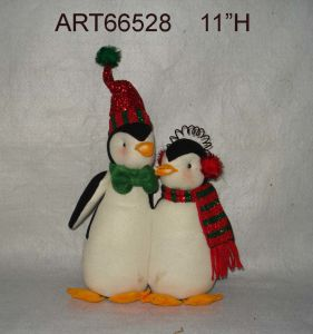 "Christmas Decoration 11""H Penguin Family pictures & photos"