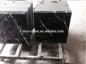 Hot Sale Black Marble Slabs Nero Marquina Black Marble Tile