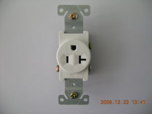 Single Receptacle, 20A 125V, 2p 3W Straight Blade, Grounding, UL/cUL Listed pictures & photos
