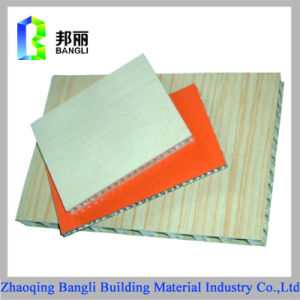 Aluminum Wood Grain Stone Grain Honeycomb Panel for Decoration Using pictures & photos