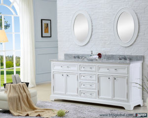 European Style PVC Shaker Door Base Cabinet for Bathroom pictures & photos