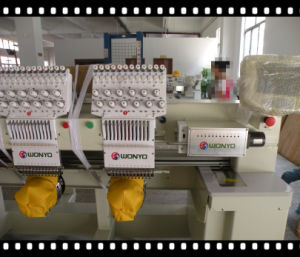 Double Heads Embroidery Machine Computerized Embroidery Machine Compatible with Design of Tajima Embroidery Machines Prices pictures & photos