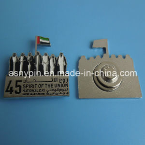 Hotsale The Newest UAE 45 National Day Magnetic 7 Sheiks and Flag Design Lapel Pin pictures & photos