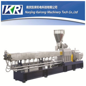 Nanjing 200-300kg/H Plastic Color Filler Masterbatch Twin Screw Extruder Machine Price pictures & photos