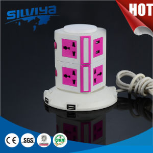 New Arrival! 8 Way Multi Tower Socket pictures & photos