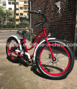 Lady Beach Cruiser/Vintage/Retro 250W/350W/500W Electric 26X4 Fat Tyre Bike/E Fat Tire Bicycle/Electric Snow Bike/E Fatty Bicycle/E Sand Bike/E Fat Pedelec pictures & photos