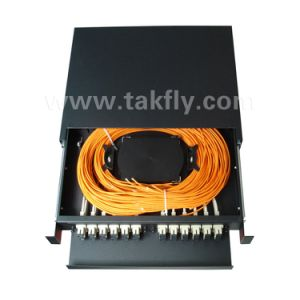 24 Ports Slidable Rack-Mount 1u 19 Inch Fiber Optic Patch Panel/ODF pictures & photos
