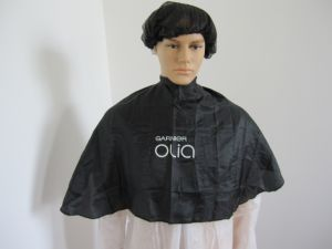 Black Hair Cutting Capes with Logo Printing pictures & photos