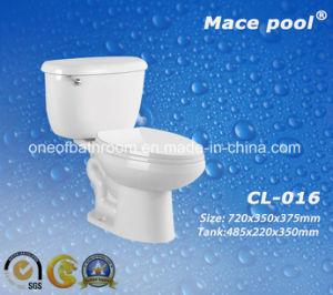Bathroom Toilet Sanitary Ware Washdown Two Piece Closet (CL-016) pictures & photos