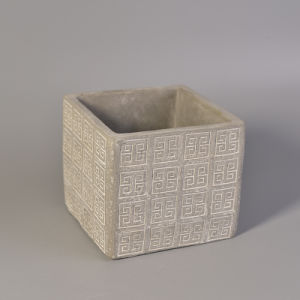 Square Concrete Candle Holder with Fashion Pattern pictures & photos