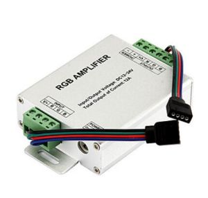 RGB Signal Amplifier Repeater for 10m / 32.8FT 4 Pin Rbg 5050 3528 LED Strip Lights 12V to 24V 12A DC pictures & photos
