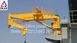 Vessel Hydraulic Telescopic Boom Marine Crane Ship Deck Crane pictures & photos