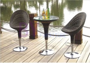 Bar PE Rattan Furniture with Rotary Chairs and Table pictures & photos