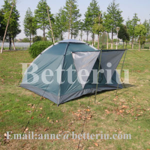 Camping Outdoor Tent Freestanding Tent with Rain-Blocking Awning pictures & photos