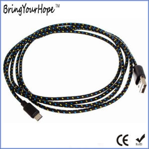 Nylon Fabric Braided Sync USB Charge Cable for iPhone & Android Phone pictures & photos