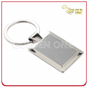 Promotional Square Shape Blank Metal Key Ring pictures & photos