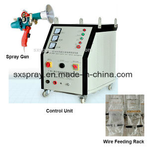 High Speed Velocity Pull or Push Spraying Coating Machine with Spray Gun for Zinc Aluminum Alloy Metal Plating Surface Treatment Processes pictures & photos