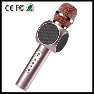 Karaoke Player Portable Wireless Bluetooth Microphone with Mic Speaker pictures & photos