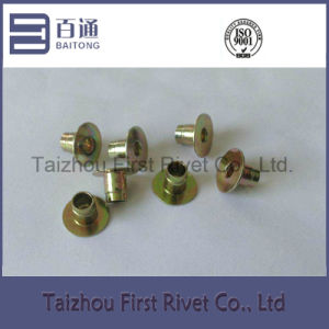 6X7.8mm Yellow Zinc Plated Fully Tubular Steel Sensor Rivet
