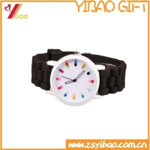 Custom High Quality Blue Silicone Watch (YB-HR-81) pictures & photos