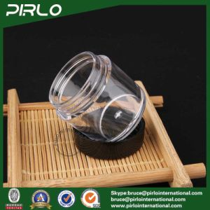 7g Clear Plastic Cosmetic Jar with Balck Plastic Lid pictures & photos