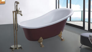 Factory Outlet Acrylic Modern Soaking Bathtub (620D) pictures & photos