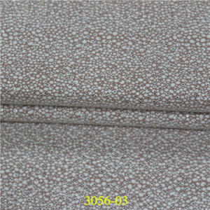 Popular Fashionable Environmental Friendly Gold Stamping Effect PU Synthetic Leather pictures & photos