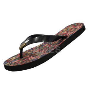 Bronze Button Flip Flop for Women