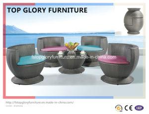 Aluminum Ootdoor Rattan Sofa Vase Set (TGBS-003) pictures & photos