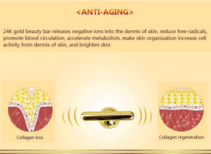 Energy Beauty Bar 24k Golden Face Skin Massager Home Use pictures & photos