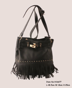 Fashion Shoulder Tassel Bags for Women pictures & photos