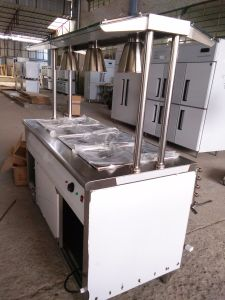 Cheering Customized New Type Stainless Steel Work Table Salad Bar pictures & photos