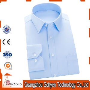 Classical Design Men′s Formal Blue Color Dress Shirt of Cotton pictures & photos