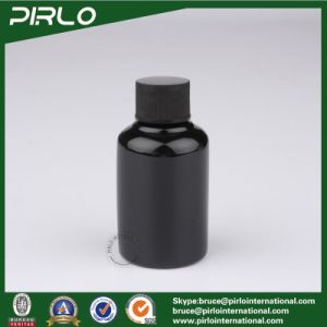 50ml Opaque Black Color Pet Plastic Lotion Bottle with Black Cap pictures & photos
