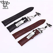 14, 16, 18, 20, 22, 24mm Factory Supply Luxury Leather Magnetic Watch Strap