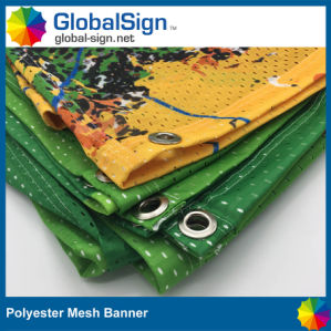 Factory Advertising Custom Windscreen Mesh Fabric Printing Fence Banners pictures & photos