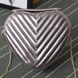 Beautiful Girls Heart Shaped Handbags Brand Designer Bags Genuine Leather Emg4782 pictures & photos