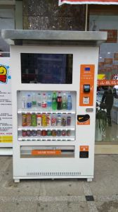 Large Capacity Beverage & Condom Automatic Vending Machine with Media pictures & photos