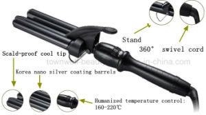 Professional 3 Barrel Hair Curling Iron for Dry and Wet Hair pictures & photos