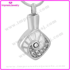 Memorial Necklace Polished Rhombus Pendants with Crystals Ijd9672 pictures & photos