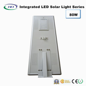 80W PIR Sensor Integrated LED Solar Street Light pictures & photos