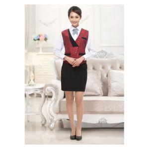 Hotel Polyester Chef Uniform Waiter Uniform with Apron pictures & photos