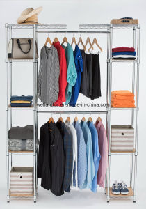 DIY Bedroom Furniture Steel Wardrobe Closet Rack with T/C Canvas Cover pictures & photos
