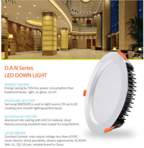 Ce SAA 560lm LED 7W Recessed LED Down Light for Indoor Lighting
