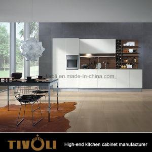 Stylish Modern Plain White Kitchen Cabinet Tivo 0053V