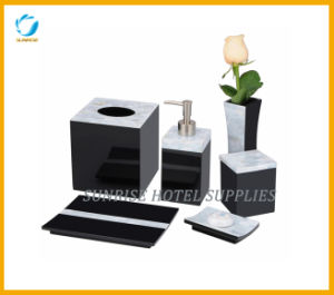 Polyresin Bathroom Accessories Set with Black Finish pictures & photos